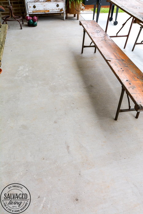 Grab great tips for power washing your concrete patio and getting rid of the paint, stain and dirt stains on your concrete. #pressurewasher #powerwash #cleaningtips #cleanconcrete #springcleaningtips