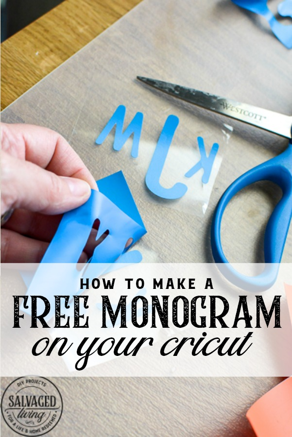 Learn how to make a free monogram on your Cricut for amazing personalized gifts and home decor. I am sharing how to monogram pillowcases for kid's bedrooms on this DIY Cricut video tutorial. You will learn step by step how to monogram with free fonts, the perfect project for Cricut beginners. #cricuttutorial #mn=onogramideas #howtomakemonograms #cricutbeginnerproject #cricutprojectidea #cricutgifts