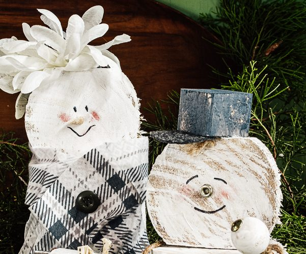 How To Make A DIY Scrap Wood Snowman Family