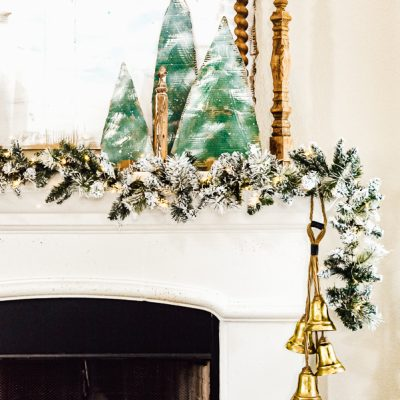 Christmas Mantel Decor On A Budget