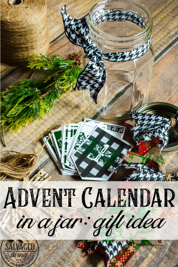 Get this versatile Advent Calendar Banner Print and use it to make a Christmas gift in a jar, decorate a vintage frame/mantel or as bible memory verse tool. These printable advent banner pieces have a gorgeous print on the front and an accompanying Bible verse that points to the Christmas story and Jesus' birth. Great to start a conversation with kids and hide God's word in your heart this Christmas season decorate with Christian home decor! #christiandecor #scripture #jargifts #giftforfriends #DIYAdventcalendar #adventbanner #DIYchristmascraft