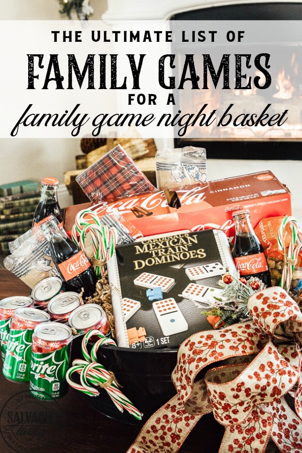The ultimate list of family games for a family game night gift basket. The perfect gift for a family with tweens and teens plus extra gift ideas to tuck into your basket for the perfect party at home for a family with kids at Christmas. #JoinTheFizztivities #christmasgift #familygamenight #holidaygiftidea #teengift