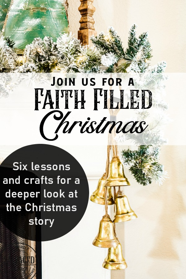 Faith filled Christmas is six lessons and crafts to dig deeper into the Christmas story, Chrsitian crafts match important aspects of the Bible story to make your home, holiday and decor more meaningful this Christmas! #christianChristmas #faithfulChristmas #jesus #ChristmasCrafts