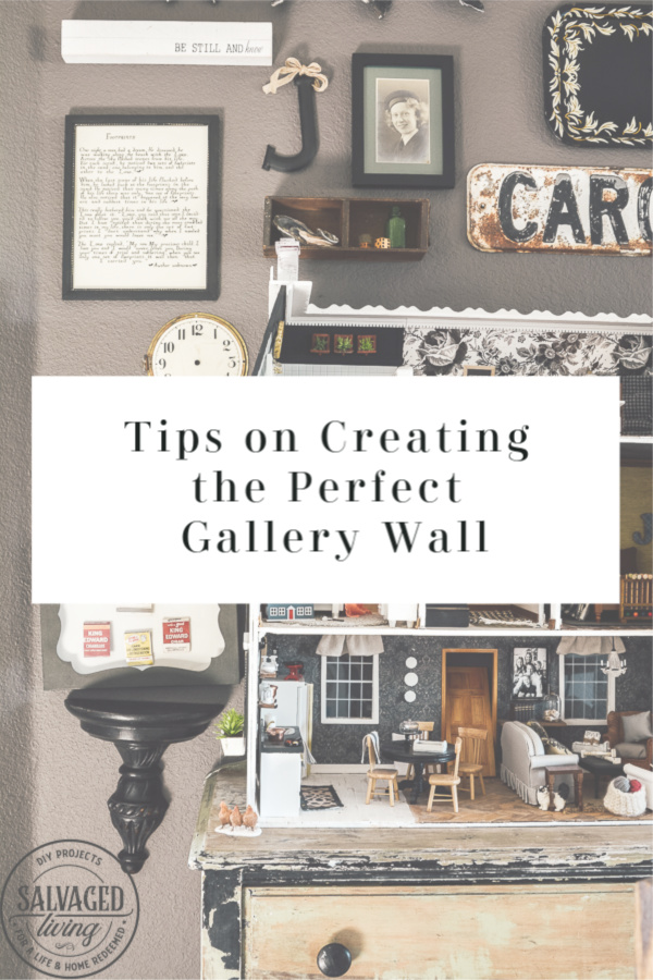 Tips to create the perfect gallery wall. Gather ideas for a gallery wall here and see how I decide my gallery wall layout to make it meaningful and full of decorating personality. #DIYwall #gallerywall #walldecoridea #howtohang