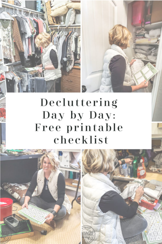 Declutter your home easily with this day by day, room by room free printable checklist that'll help you organize your home and create an environment you love! This free printable checklist for decluttering your home room by room, day by day will help you feel organized for the new year painlessly! #springcleaningchecklist #easyorganizing #declutterchanllenge #declutterideas
