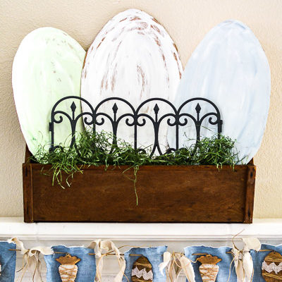 Budget Easter Mantle Ideas