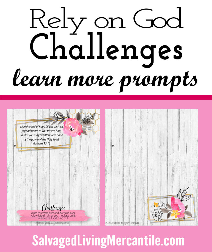 Looking for scripture to help you when you are struggling? This Rely on God workbook journal is perfect to get you digging into the Word of God. With 32 scripture verses to pray on you will feel freedom and joy as you learn to lean on the Lord. Challenge pages, dig deeper, color sheets, bookmarks, note cards, word searches, journal prompts and more await you in this self guided study on Relying on God. #biblestudy #devotionsforwomen #christiandevotional #christianjournal