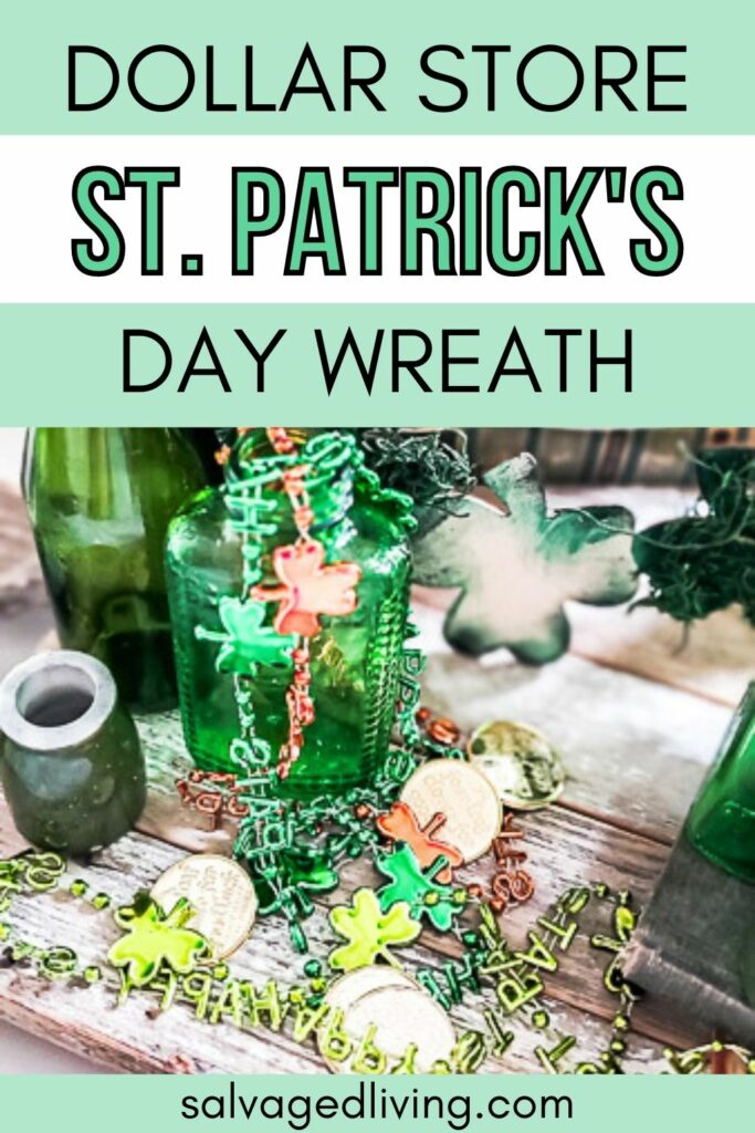 st. patrick's day wreath dollar store