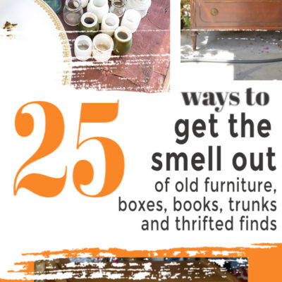 25 Ideas On How To Get The Smell Out Of Old Items