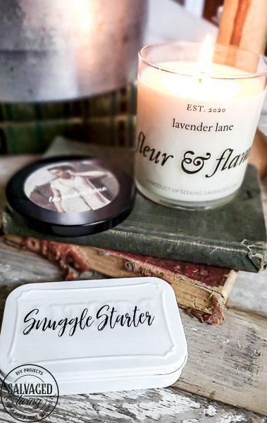 DIY Match box matches in a jar project to make a beautiful way to display matches in your home next to your favorite candle or fireplace. This match box decor tutorial comes with a free printable download for you to make your own decorative match holder! #matchsayings #giftideas #longmatches