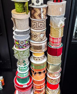 DIY Ribbon Storage Rack