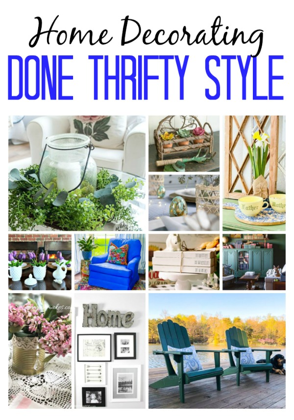 Thrifty ideas for decorating your home on a budget using old books. Great decor tips for thrifty style that is on trend. #budgetdecor #affordablestyle #vintagebooks #thriftingtips