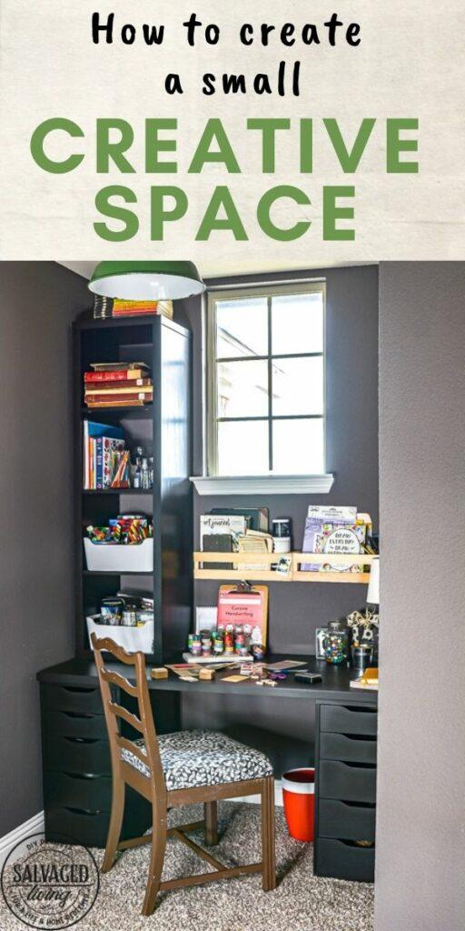 create a small creative space