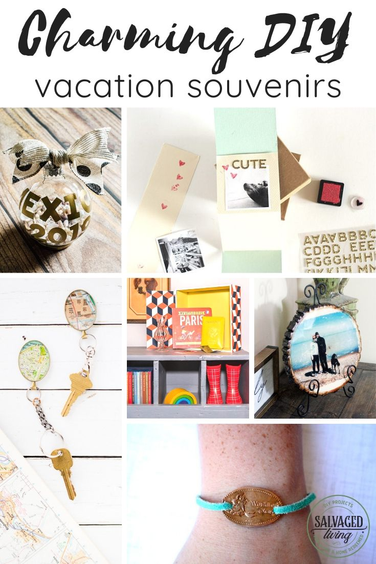 Make your own keepsake with ideas from this list of charming DIY vacation souvenirs. The best vacation sounvenir ideas are ones made your own! #souvenirideas #tripmemories #vacationkeepsake
