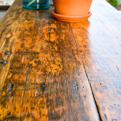 Refinishing Wood Patio Furniture