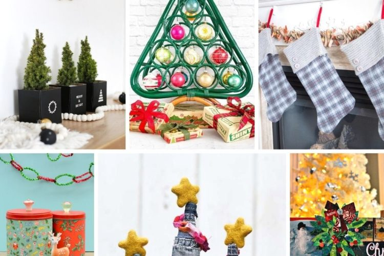Magnificent upcycled Christmas decor ideas await your crafting to do list, you can repurpose your way to Christmas this year! See this list of fun ways to make DIY Christmas decorations on a budget with upcycled style. #christmasideas #christmascrafts