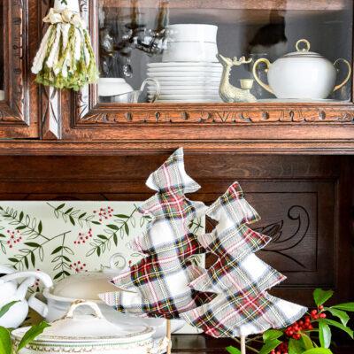 DIY Stuffed Fabric Christmas Trees