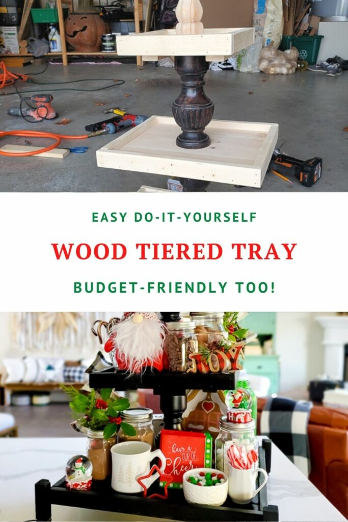 DIY Tiered Tray From Wood