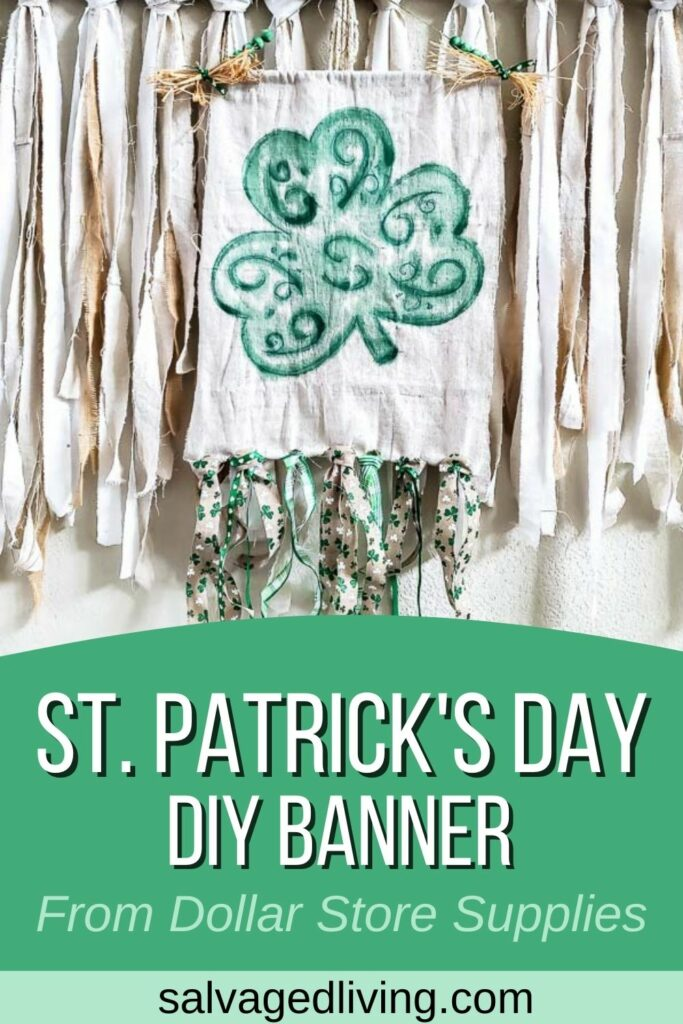Dollar Store St. Patrick's Day Banner DIY