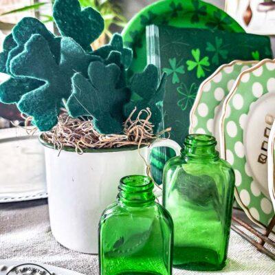 DIY Shamrock Craft For St. Patrick's Day Decor