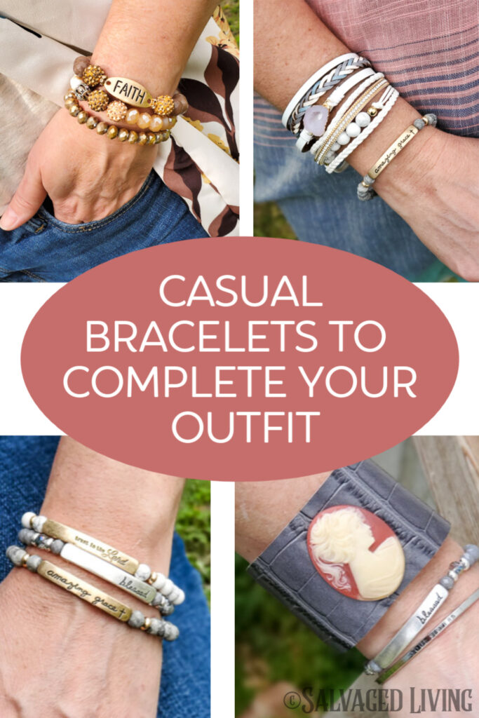Complete your look with the perfect budget friendly bracelet from the Salvaged Living Mercantile. Affordable women's clothing.