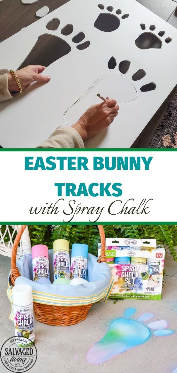 Easter bunny tracks before and after