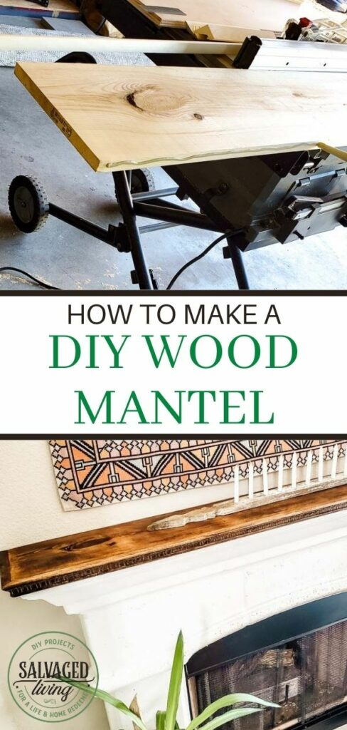 wood for diy wood mantel and stain
