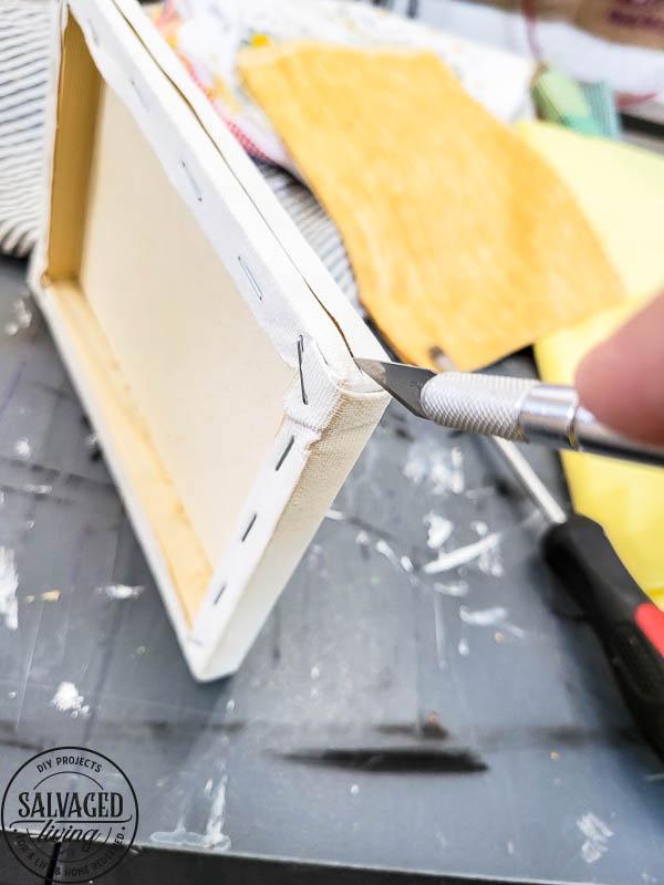 using sharpie on dollar tree canvas