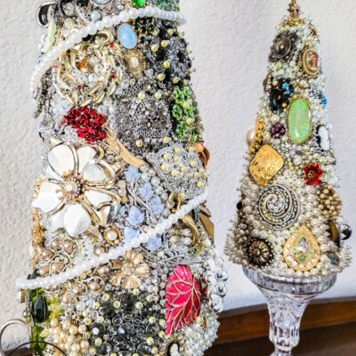 How To Make A Beautiful DIY Vintage Jewelry Tree Tutorial