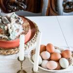 Wood Bead Napkin Rings on table