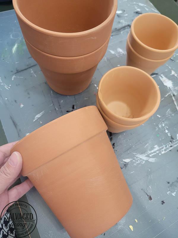 stamping terra cotta pots