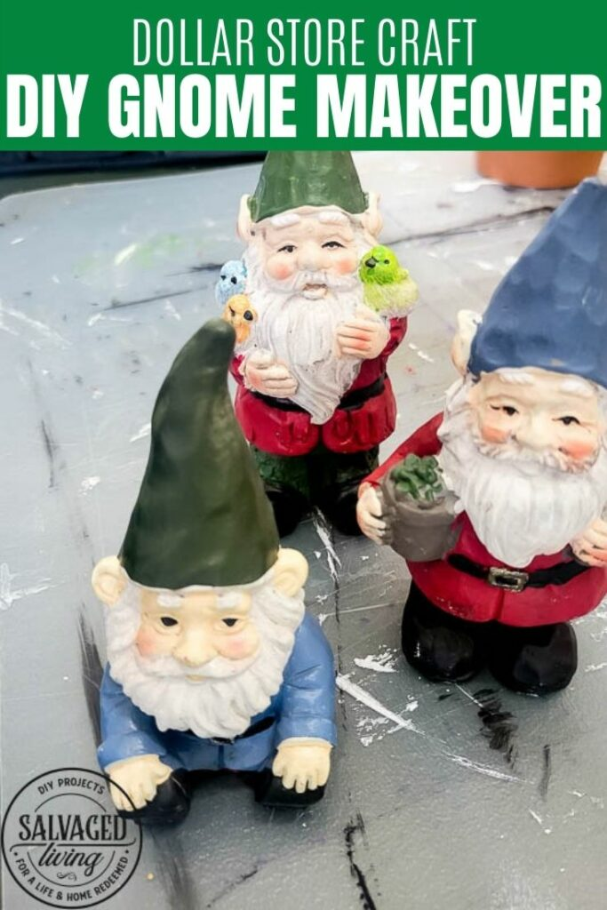 DIY Dollar Store Gnome Makeover pin image
