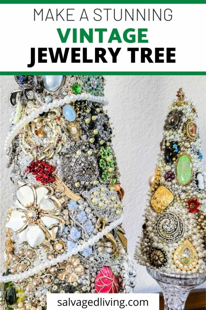 finished vintage jewelry tree set of 2