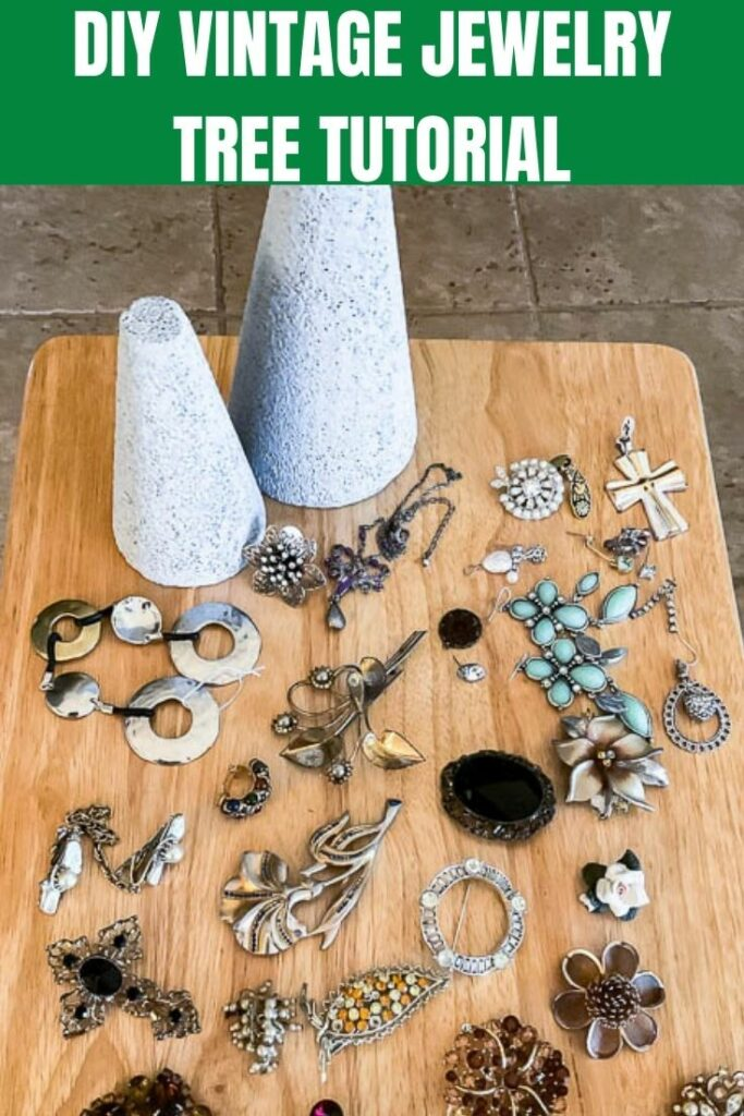 supplies for vintage jewelry tree
