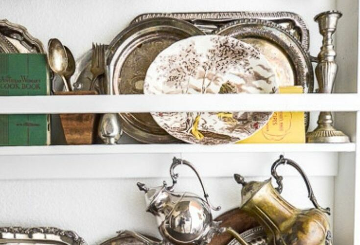 kitchen plate racks pin image with text overlay