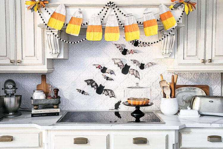 3 budget friendly DIY Halloween decorations are precious and so simple to make yourself. These Halloween decor ideas use newspaper as the main craft supply so you can create new Halloween decor that won't break the bank - turn those scary headlines into crafty decor instead! #papercraft #DIYHalloweenDecor #Halloweencraft #budgetHalloweenideas