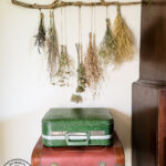 Make a stunning wall hanging from dried flowers and dried grasses for you a boho chic wall hanging in your home. This simple DIY is budget-friendly decor at it's finest! #wallart #driedflowers #bohodecor #farmhousewallart